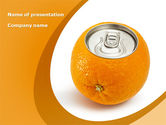 Careers/Industry: Orange In Can PowerPoint Template #08544
