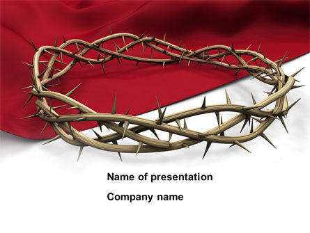 Religious/Spiritual: Crown Of Thorns PowerPoint Template #08546