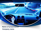 Cars and Transportation: Ride Fast PowerPoint Template #08547