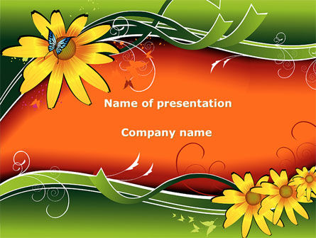 Holiday/Special Occasion: Floral Ornaments PowerPoint Template #08555