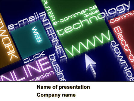 Online Technology PowerPoint Template, 08560, Technology and Science — PoweredTemplate.com