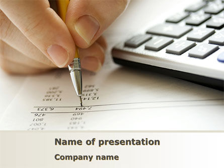 Calculation Accounts PowerPoint Template, 08565, Financial/Accounting — PoweredTemplate.com