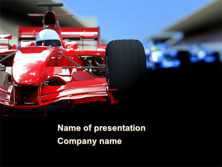 Formula One Racing PowerPoint Template, 08567, Cars and Transportation — PoweredTemplate.com