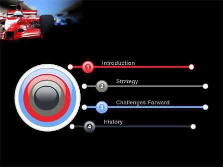 Formula One Racing PowerPoint Template, Slide 3, 08567, Cars and Transportation — PoweredTemplate.com