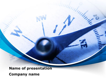 Blue Compass PowerPoint Template, 08568, Business Concepts — PoweredTemplate.com