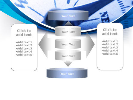 Blue Compass PowerPoint Template Slide 13