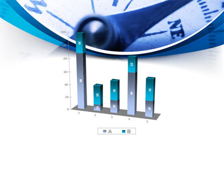 Blue Compass PowerPoint Template Slide 17