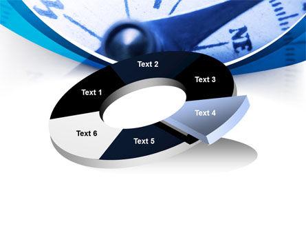 Blue Compass PowerPoint Template Slide 19