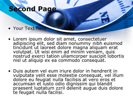 Blue Compass PowerPoint Template Slide 2