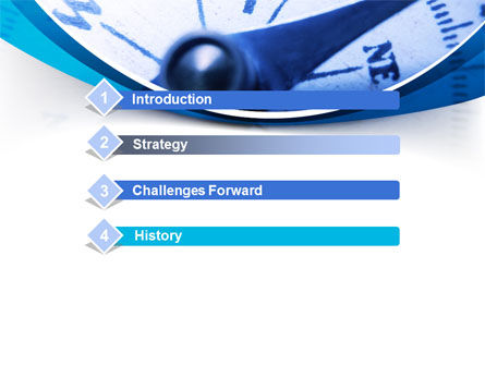 Blue Compass PowerPoint Template, Slide 3, 08568, Business Concepts — PoweredTemplate.com
