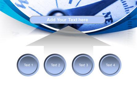 Blue Compass PowerPoint Template Slide 8