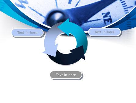 Blue Compass PowerPoint Template Slide 9