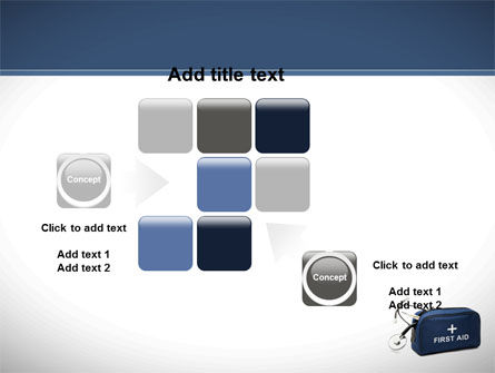 First Aid Kit Blue Box PowerPoint Template Slide 16