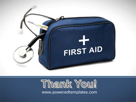 First Aid Kit Blue Box PowerPoint Template Slide 20