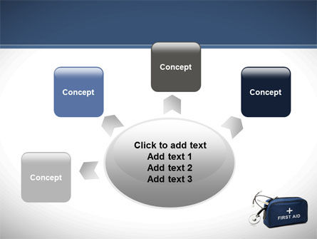 First Aid Kit Blue Box PowerPoint Template Slide 7