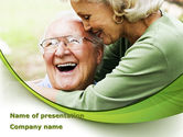 People: Elderly Couple PowerPoint Template #08571