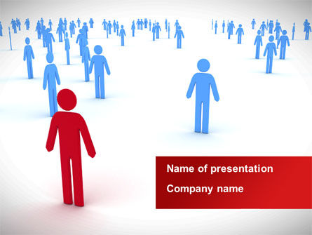 Leader Of Community PowerPoint Template, 08572, People — PoweredTemplate.com