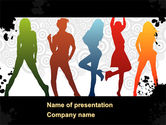 Careers/Industry: Party Girls PowerPoint Template #08573