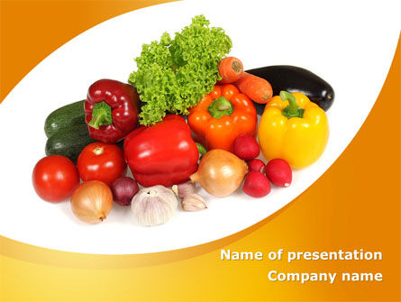 Food & Beverage: Templat PowerPoint Diet Nabati #08574