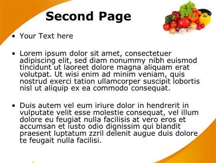 Vegetable Diet PowerPoint Template, Slide 2, 08574, Food & Beverage — PoweredTemplate.com