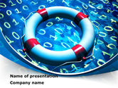 Technology and Science: Software Security Lifebuoy PowerPoint Template #08576