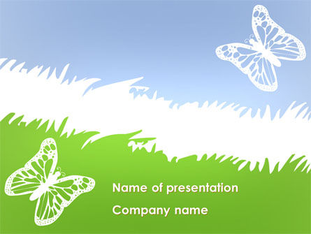 Summer Butterfly PowerPoint Template, 08577, Holiday/Special Occasion — PoweredTemplate.com