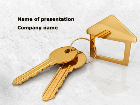 Real Estate: Locked House PowerPoint Template #08580