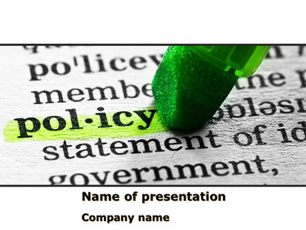Legal: Policy PowerPoint Template #08581