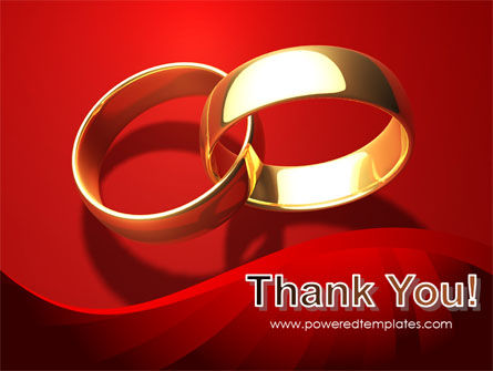 Wedding Rings On A Bright Red Background PowerPoint Template Slide 20