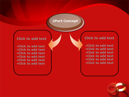 Wedding Rings On A Bright Red Background PowerPoint Template Slide 4