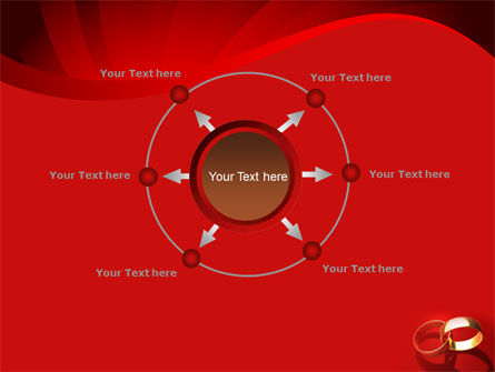 Wedding Rings On A Bright Red Background PowerPoint Template Slide 7