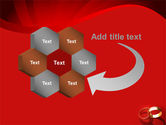 Wedding Rings On A Bright Red Background PowerPoint Template#11