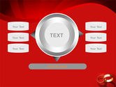 Wedding Rings On A Bright Red Background PowerPoint Template#12