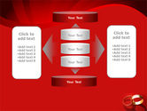 Wedding Rings On A Bright Red Background PowerPoint Template#13