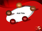 Wedding Rings On A Bright Red Background PowerPoint Template#14