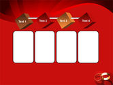 Wedding Rings On A Bright Red Background PowerPoint Template#18