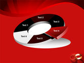 Wedding Rings On A Bright Red Background PowerPoint Template#19