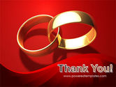 Wedding Rings On A Bright Red Background PowerPoint Template#20
