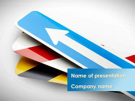 Careers/Industry: Guide Board PowerPoint Template #08585