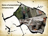 Nature & Environment: Building Destruction PowerPoint Template #08587
