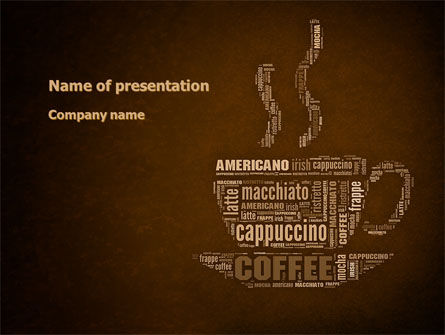 Coffee Break With Various Coffee PowerPoint Template