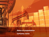 Careers/Industry: Oil Production PowerPoint Template #08593
