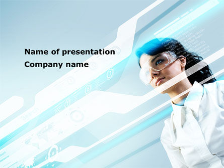 Smart Girl PowerPoint Template, 08599, Technology and Science — PoweredTemplate.com