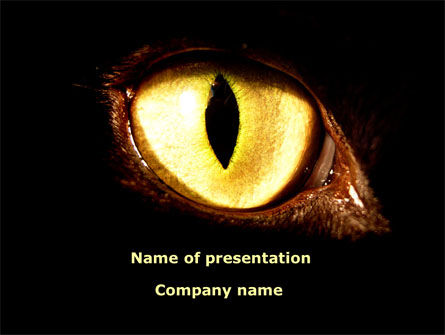 Animals and Pets: Black Cat PowerPoint Template #08600