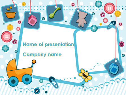Childhood Things PowerPoint Template, 08601, Education & Training — PoweredTemplate.com