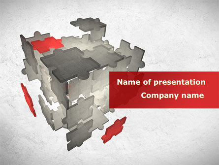 Business: Puzzle Cube PowerPoint Template #08602