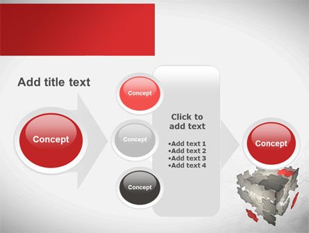 Puzzle Cube PowerPoint Template Slide 17
