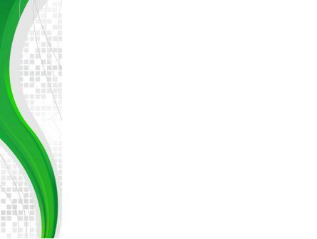 Green Abstract Wave PowerPoint Template, Slide 3, 08603, Abstract/Textures — PoweredTemplate.com