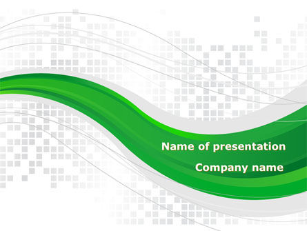 Abstract/Textures: Green Abstract Wave PowerPoint Template #08603