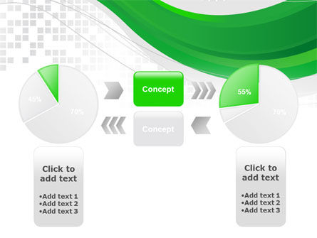 Green Abstract Wave PowerPoint Template Slide 11